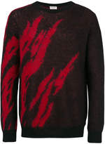 Saint Laurent knitted print sweater