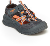 Osh Kosh Boys' Sandals GY/OR - Gray & Orange Bax Bump Toe Sandal - Boys