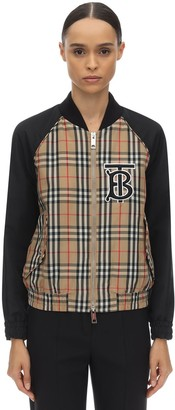 Burberry Quilted Check Nylon Bomber Jacket