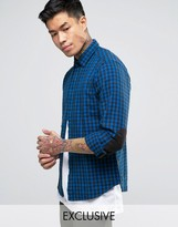 Replay Check Flannel Shirt in Blue