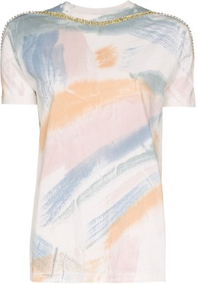 Collina Strada sporty spice brushstroke embellished T-shirt