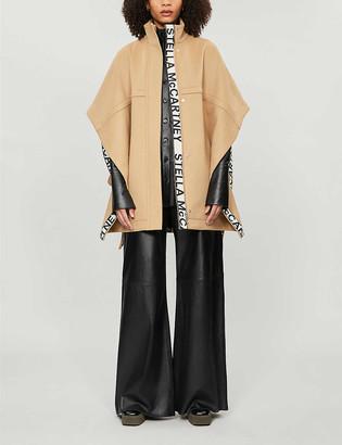 Stella McCartney Funnel-neck wool cape