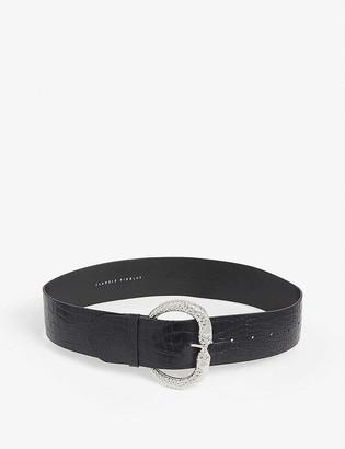 Claudie Pierlot Aserpente20 croc-embossed leather belt