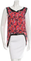 Thakoon Printed Sleeveless Top
