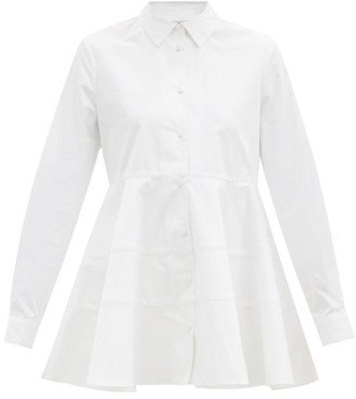 Co Cotton-sateen Peplum Shirt - White