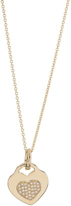 Ron Hami 14K Yellow Gold Diamond Heart Necklace - 0.085 ctw
