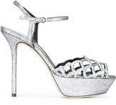 Sergio Rossi lattice work sandals