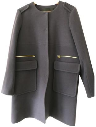 Tara Jarmon Blue Wool Coat for Women