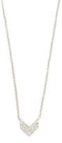 Ef Collection Diamond Fade Shield Necklace
