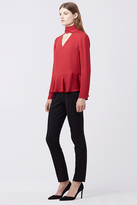 Diane von Furstenberg Kalesta Cut-Out Turtleneck Top