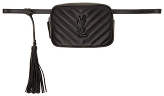 Saint Laurent Black Lou Belt Bag