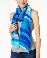 Calvin Klein Watercolor Stripe Wrap & Scarf in One