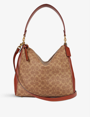 Coach Shay coated-canvas and leather shoulder bag