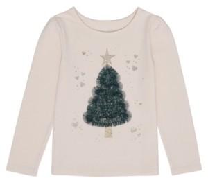 Epic Threads Little Girls Long Sleeve Christmas Tree Graphic Tee