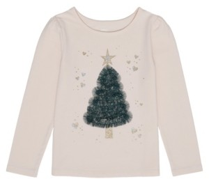 Epic Threads Toddler Girls Long Sleeve Christmas Tree Graphic Tee