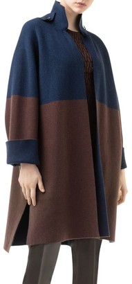 Akris Cashmere Colorblock Cardigan