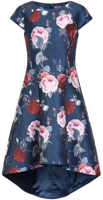 Chi Chi Floral Printed Dip Hem Dress