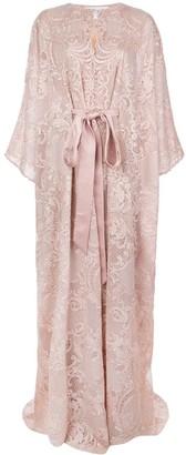 Marchesa Embroidered Kaftan Dress