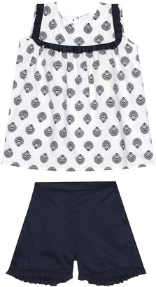 Rachel Riley Seashell cotton top and shorts set