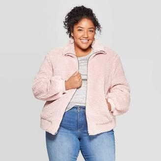 Ava & Viv Women's Plus Size Long Sleeve Bomber Jacket - Ava & VivTM