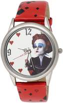 Disney Women's Alice in Wonderland Queen Mirror Dial Strap Watch AL1011