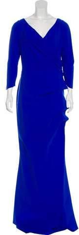 Chiara Boni Surplice Neck Maxi Dress