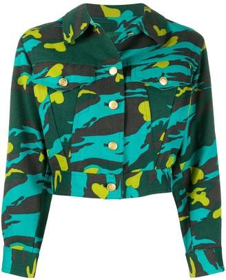 Jean Paul Gaultier Pre Owned Camouflage Print Denim Jacket