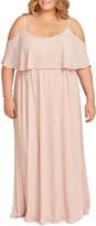 Show Me Your Mumu Caitlin Ruffle Cold Shoulder Evening Dress
