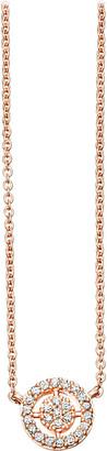 Astley Clarke Mini Icon Aura 14ct rose-gold and diamond pendant necklace