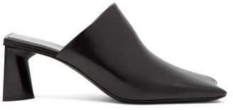 Balenciaga Square-toe Leather Mules - Black