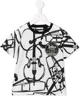 Dolce & Gabbana violin print T-shirt - kids - Cotton/Viscose - 36 mth