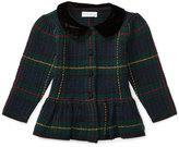 Ralph Lauren Collared Plaid Wool-Blend Sweater, Green/Multicolor, Size 9-24 Months