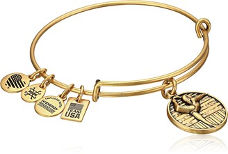 Alex and Ani Team USA Gymnastics Expandable Rafaelian Gold Bangle Bracelet