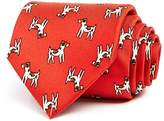 Drakes Drake's Dog Print Classic Tie