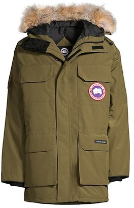 Canada Goose Expedition Coyote Fur-Trim Military Down Parka
