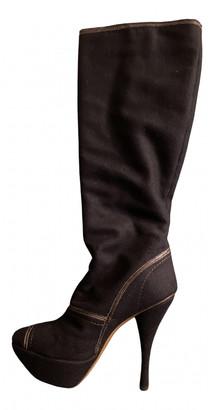 Marni Navy Tweed Boots