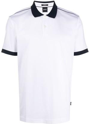 BOSS Two-Tone Short-Sleeved Polo Shirt