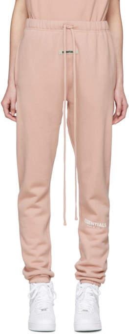 Essentials Pink Fleece Reflective Lounge Pants
