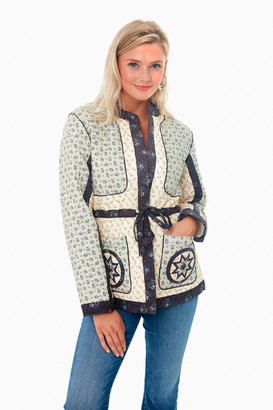 Sea New York Multi Ditsy Mix Long Sleeve Quilted Jacket