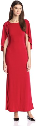 Melissa Masse Plus Women's Maxi Cape Dress