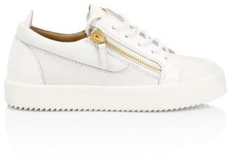 Giuseppe Zanotti Gail Double-Zip Leather Sneakers
