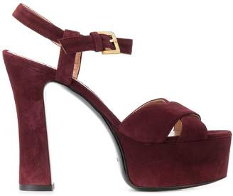 Pollini high heel platform sandals