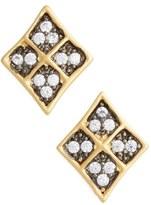 Freida Rothman Contemporary Deco Stud Earrings