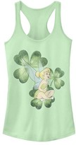 Fifth Sun Women's Tank Tops MINT - Disney Fairies Mint Tinkerbell & Shamrocks Racerback Tank - Women & Juniors