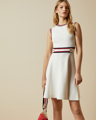 Ted Baker APRYLL Knitted sleeveless skater dress