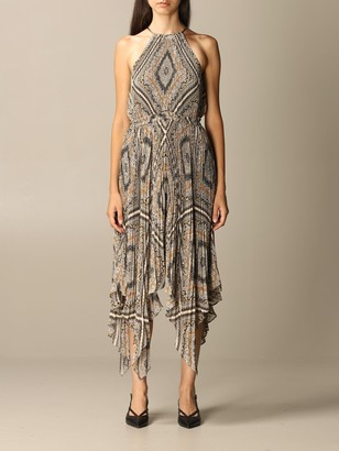 MICHAEL Michael Kors Dress Long Pleated Dress With Pattern