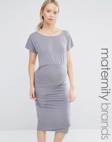 Isabella Oliver Short Sleeve Ruched Bodycon Dress