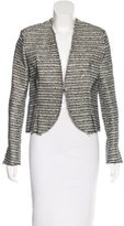 Balenciaga Tweed Long Sleeve Jacket