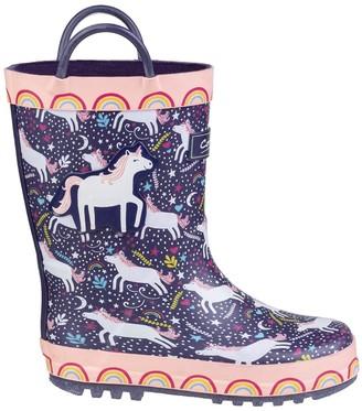 Cotswold Girls Unicorn Wellington Boots