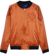Opening Ceremony Reversible Embroidered Silk-satin Bomber Jacket - Royal blue